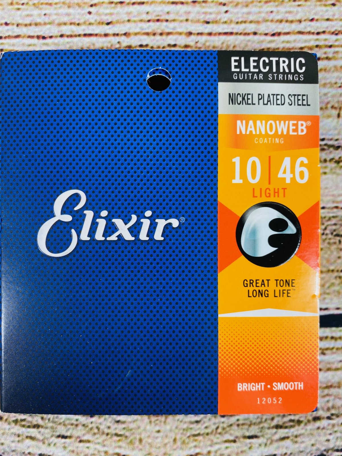 Elixir Strings 12052 Nanoweb Electric Guitar Strings - .010-.046 Light