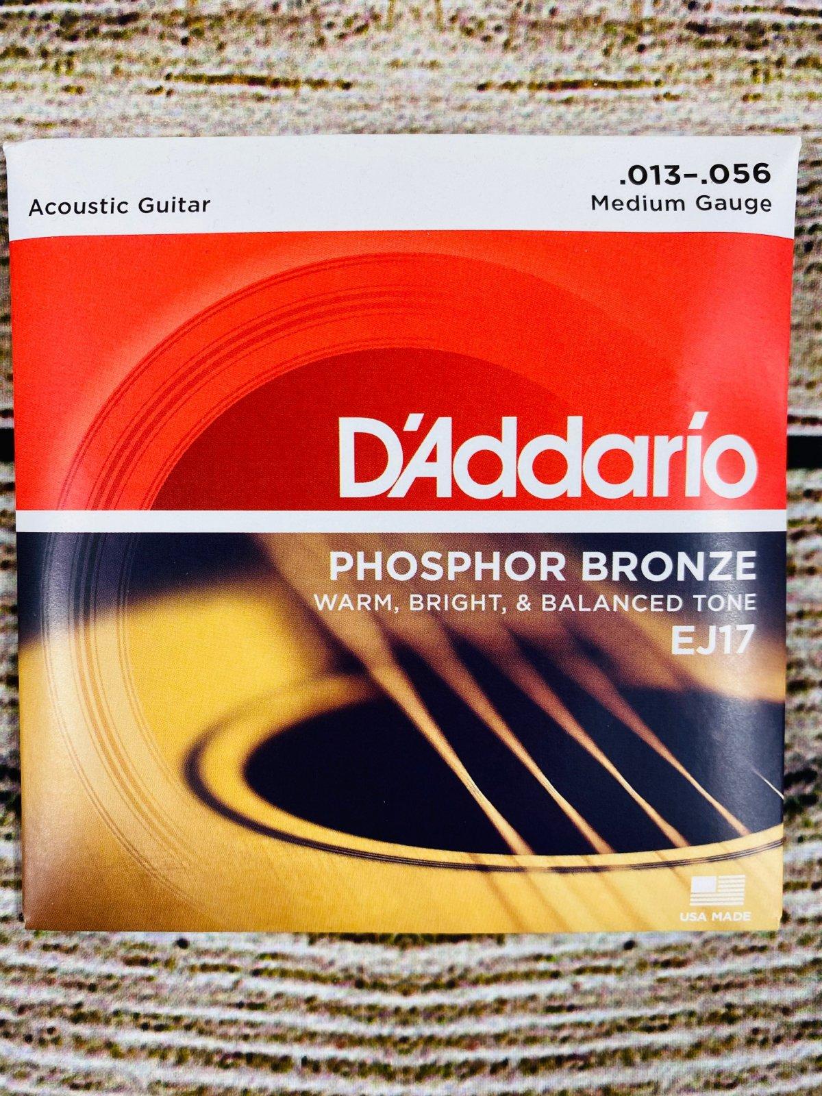 D'Addario EJ17 - Phosphor Bronze Medium Acoustic Strings