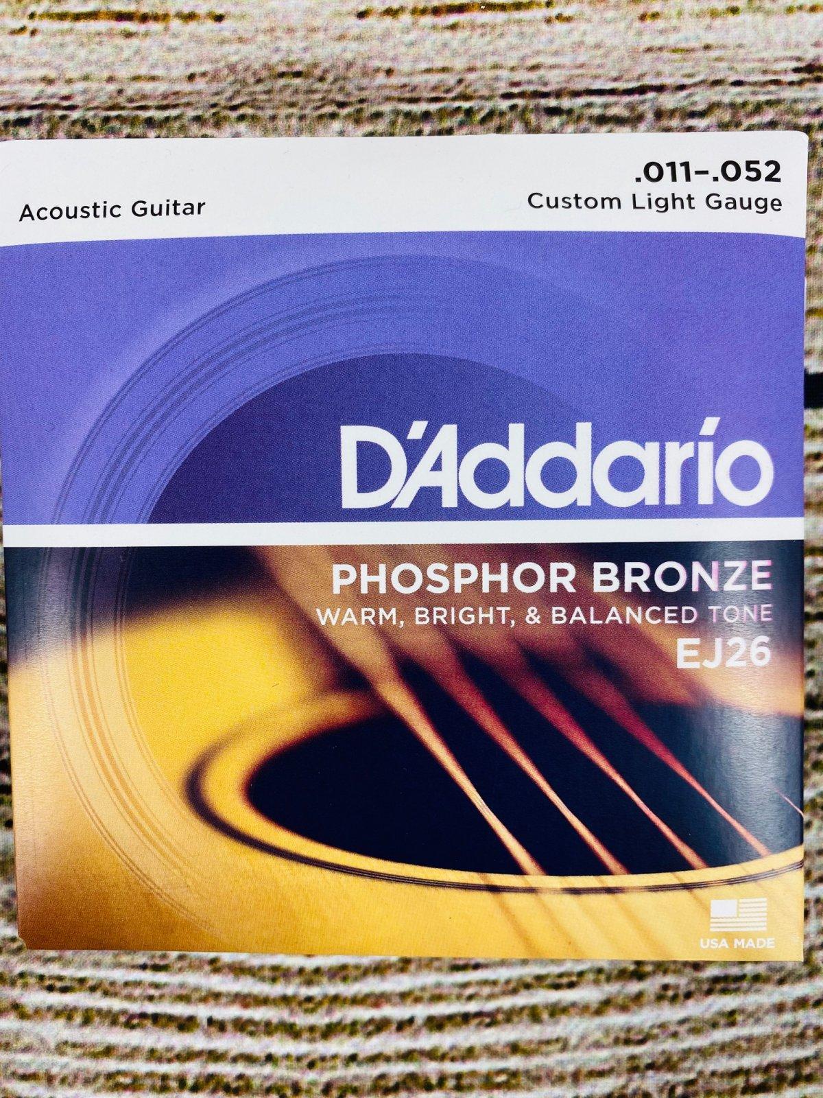 D'Addario EJ26 - Phosphor Bronze Custom Light Acoustic Strings
