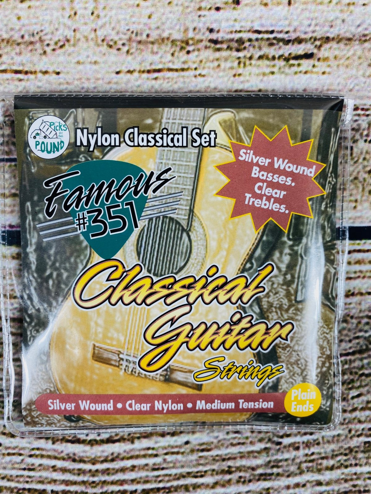 Famous #351 Nylon Classical Guitar Strings