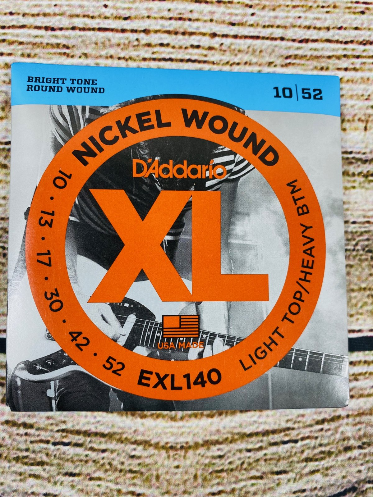 D'Addario EXL140 Nickel Wound Electric Strings - .010-.052 Light Top/Heavy Bottom