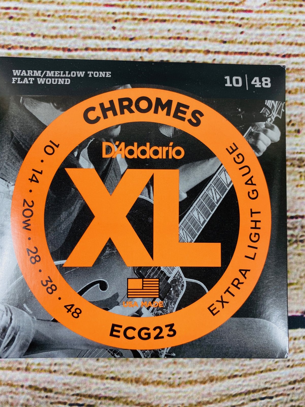 D'Addario ECG23 Chromes Flatwound Electric Strings - .010-.048 Extra Light