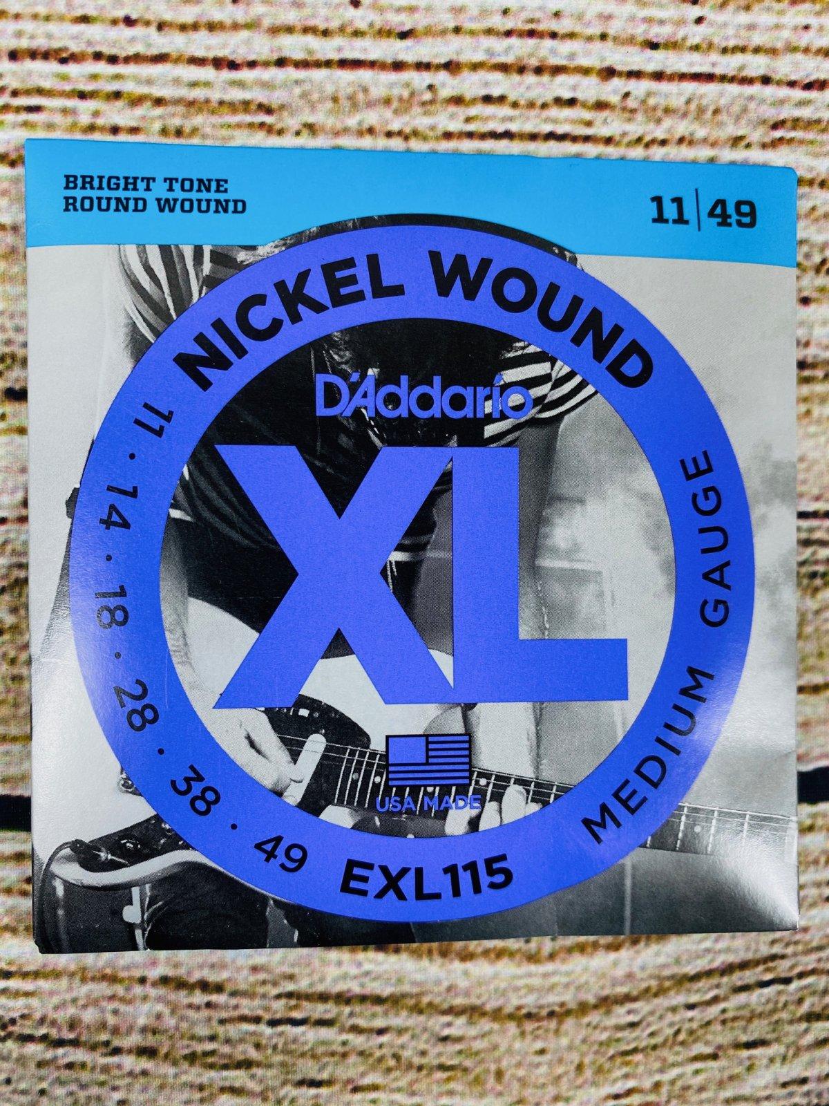 D'Addario EXL115 Nickel Wound Electric Strings, .011-.049 Medium/Blues-Jazz Rock