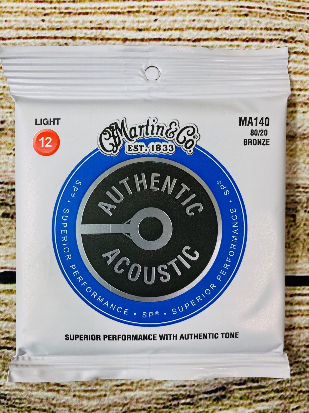 Martin Authentic Acoustic Superior Performance Guitar Strings - 80/20 Bronze Light .012-.054