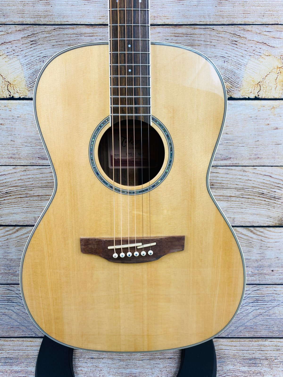 Takamine GY51E-NAT New Yorker Gloss Natural Finish 6 String RH Acoustic Electric Guitar