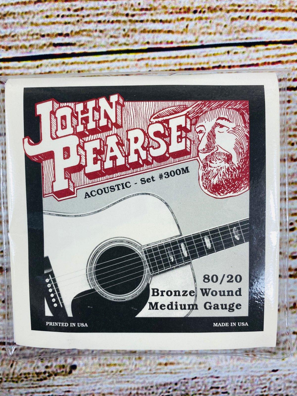 John Pearse Acoustic Six String Guitar 80/20 Bronze Medium Gauge, .013 - .056