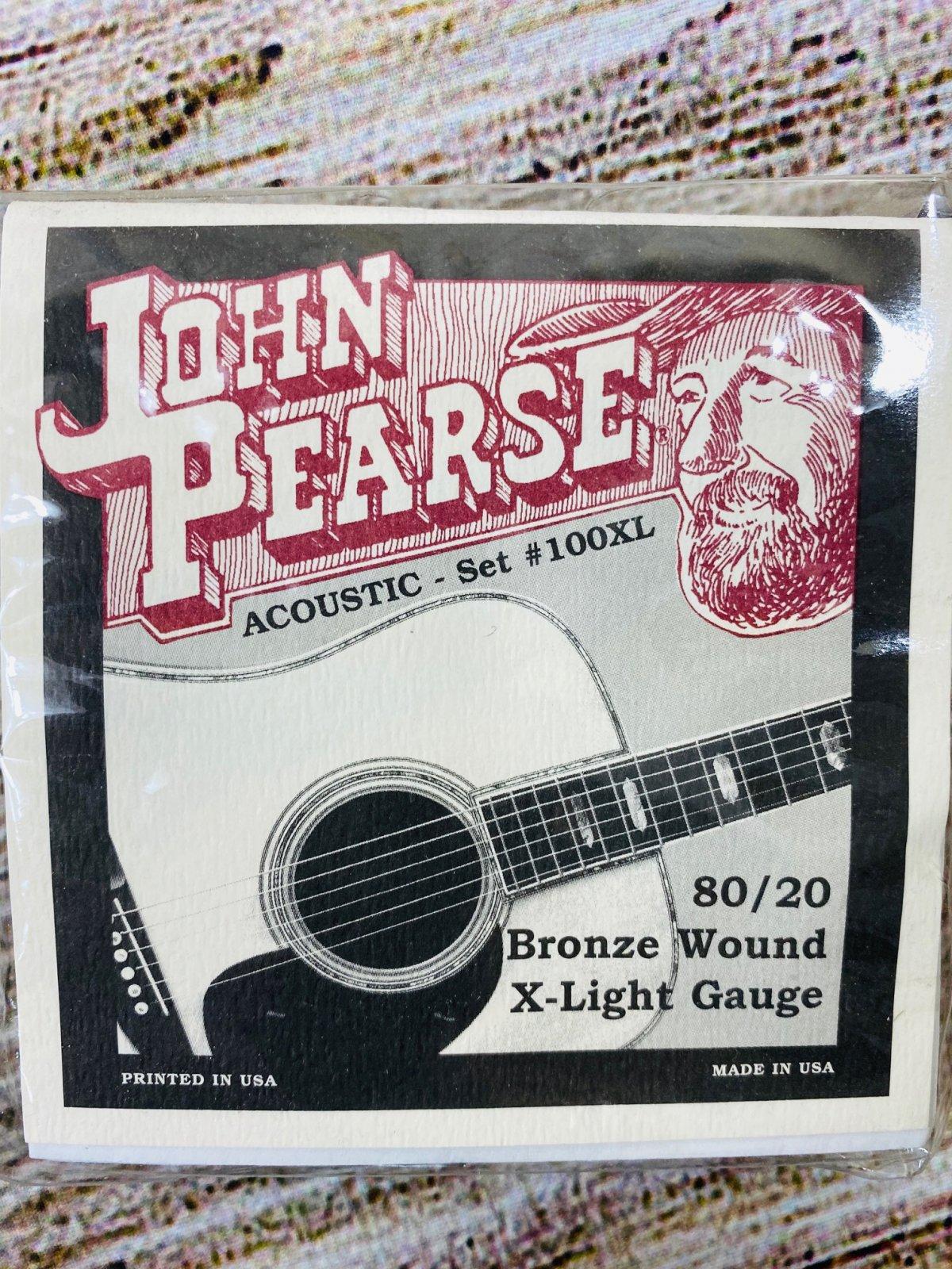 John Pearse 100XL 80/20 Bronze Acoustic Guitar Strings Ex Lt 10-47