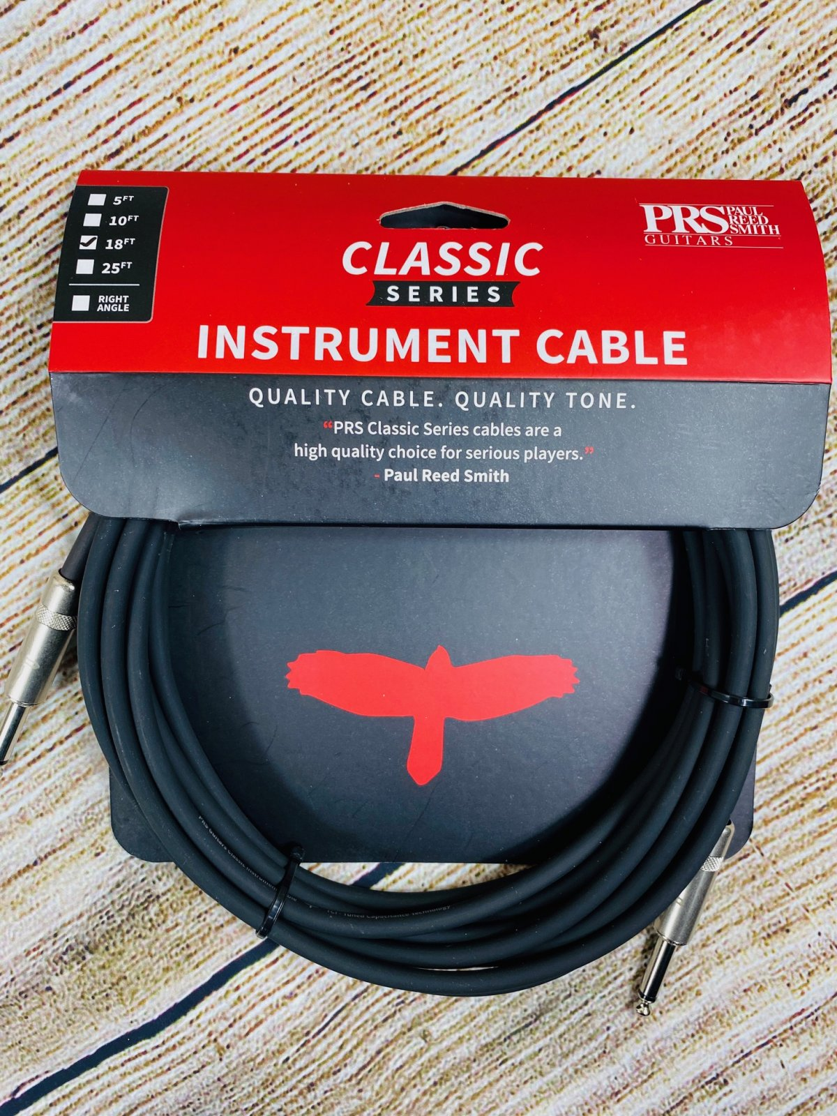 PRS Straight to Straight Instrument Cable - 18 foot1 Clas