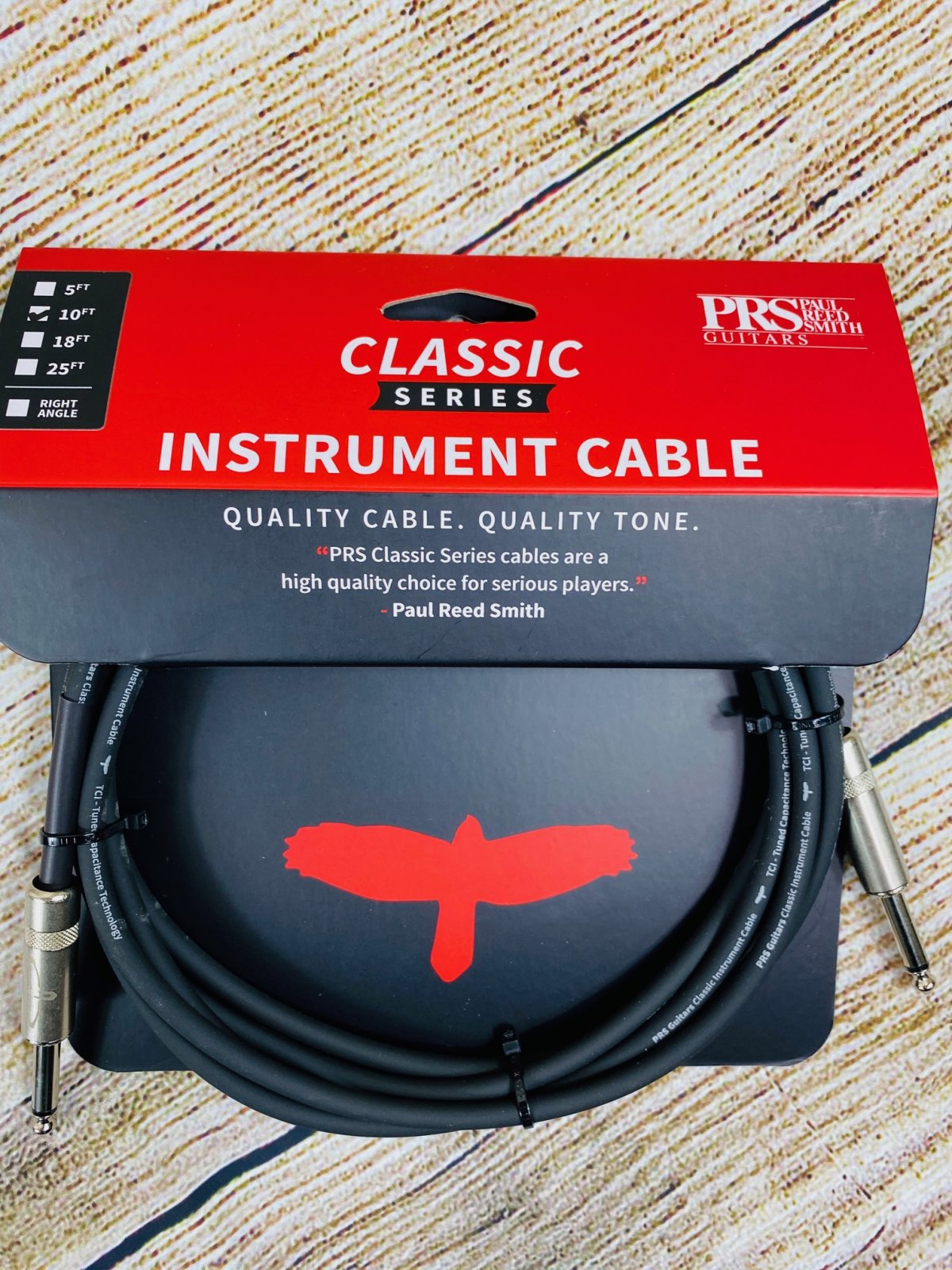 PRS Classic Straight to Straight Instrument Cable - 10 foot