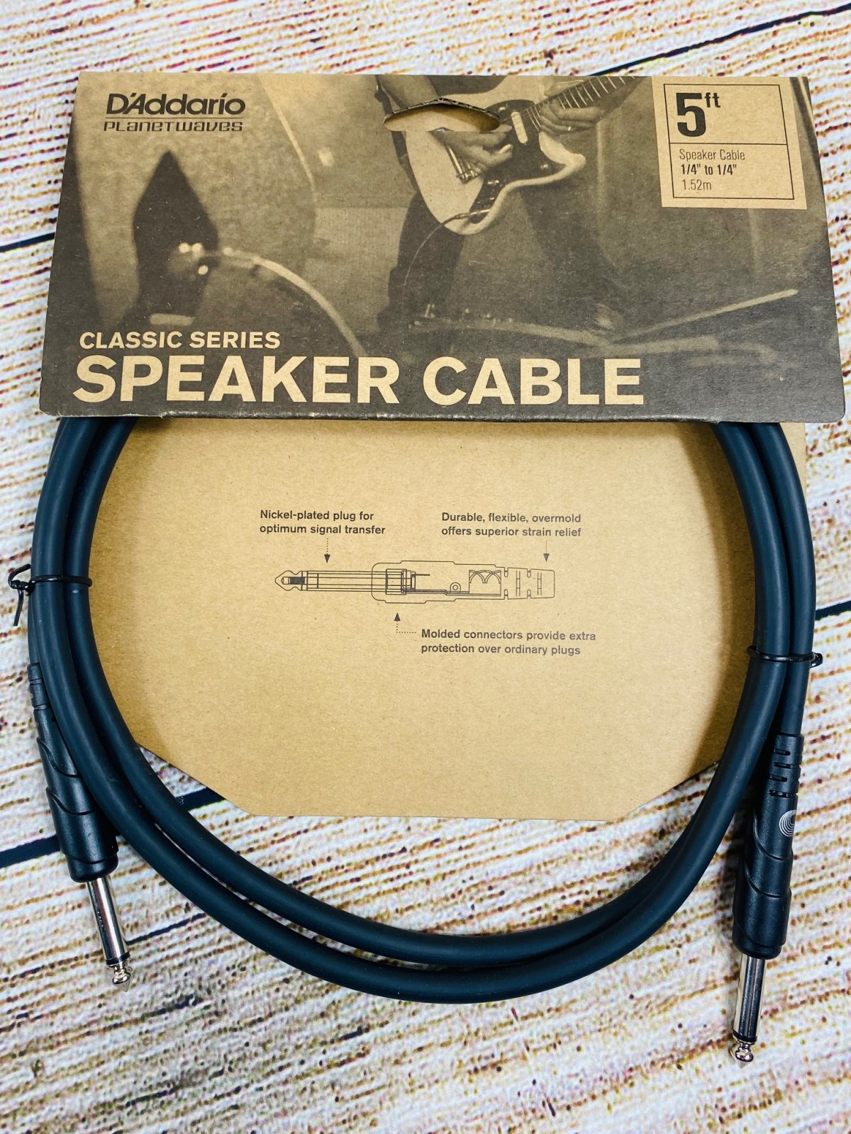 D'Addario Classic Series Speaker Cables - 5 foot