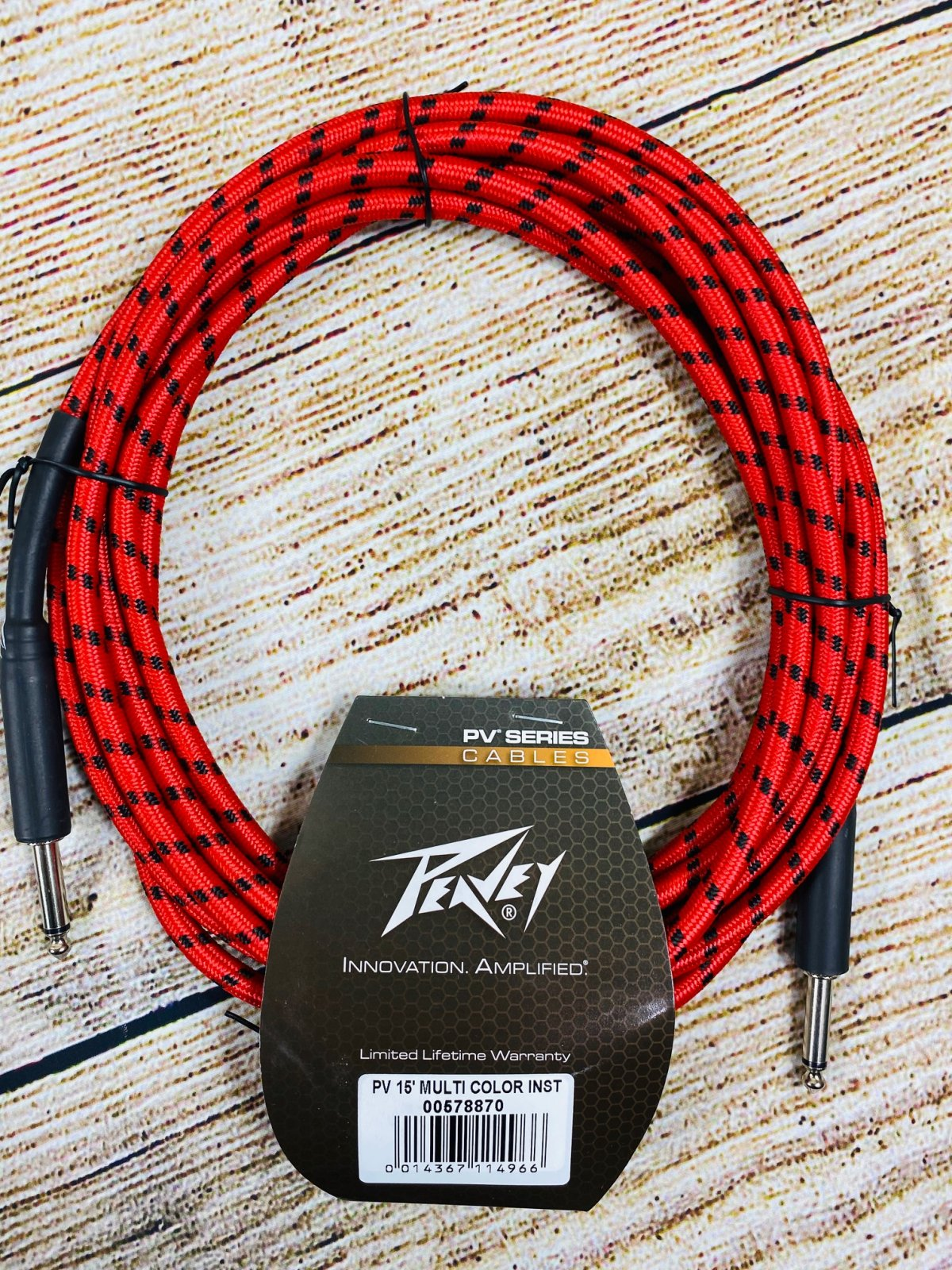 Peavey PV Multi-Color Instrument Cable - 15 Foot