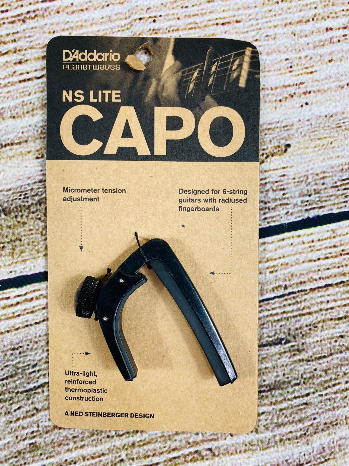 D'Addario NS Capo Lite - Adjustable Tension, Black