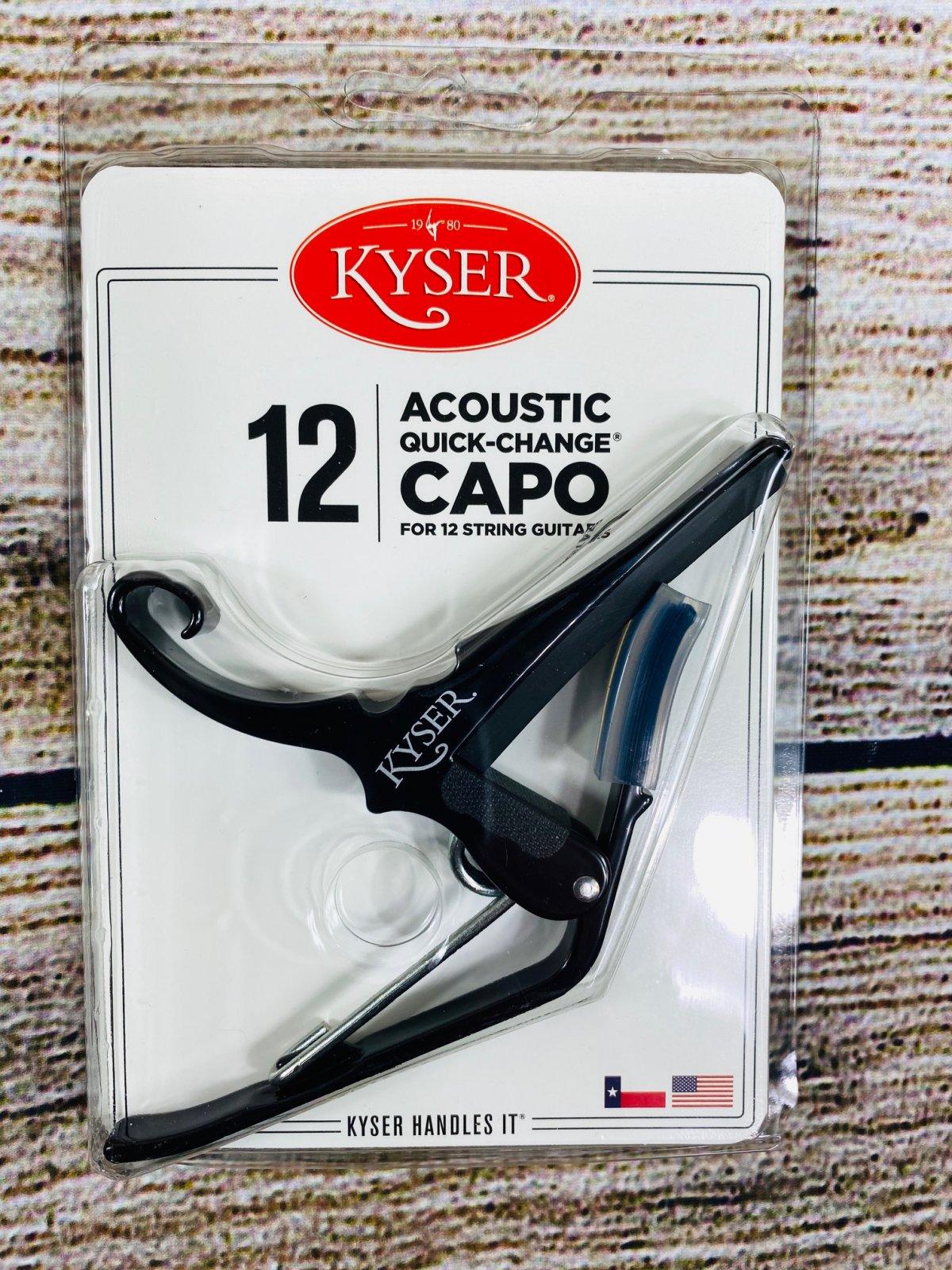 Kyser Quick-Change 12-string Guitar Capo - Black