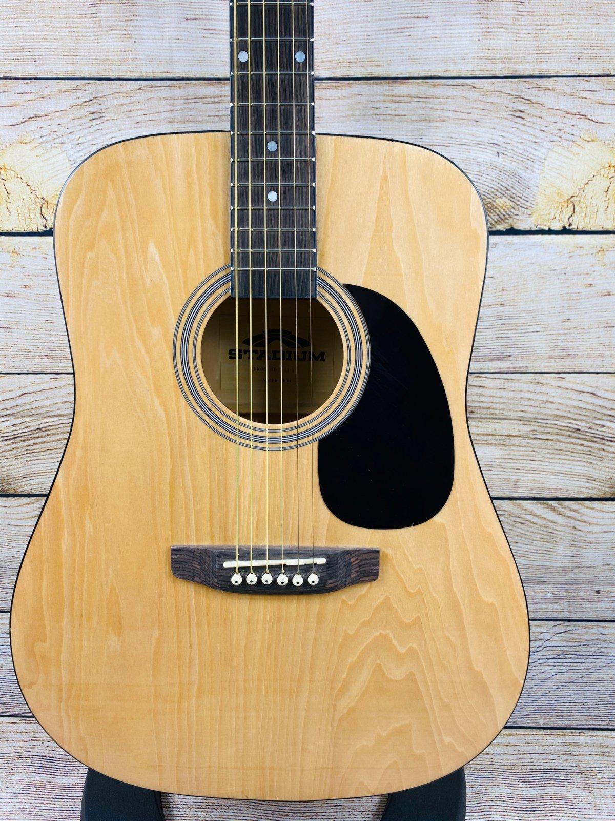 Stadium D-42 Steel String Acoustic Guitar, Natural