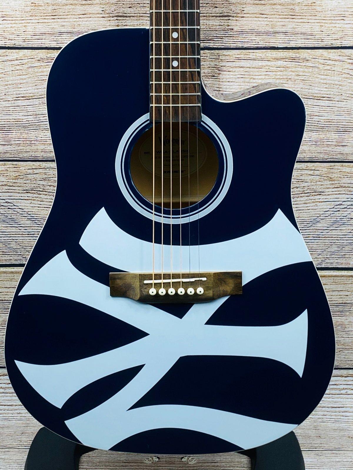 Woodrow New York Yankees Acoustic Guitar