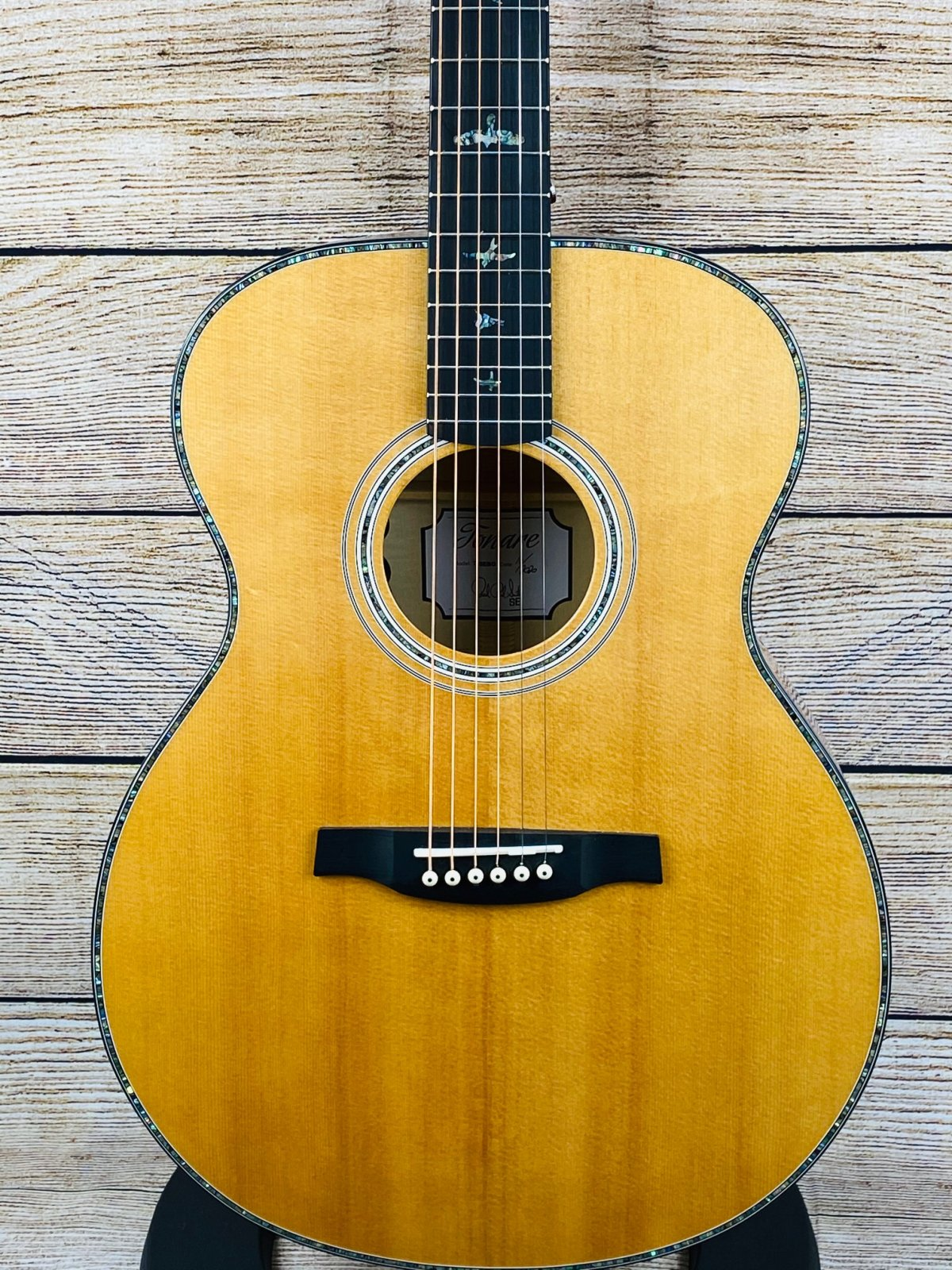 PRS SE Angelus T55E Acoustic-Electric Natural with Black Gold Back and Sides