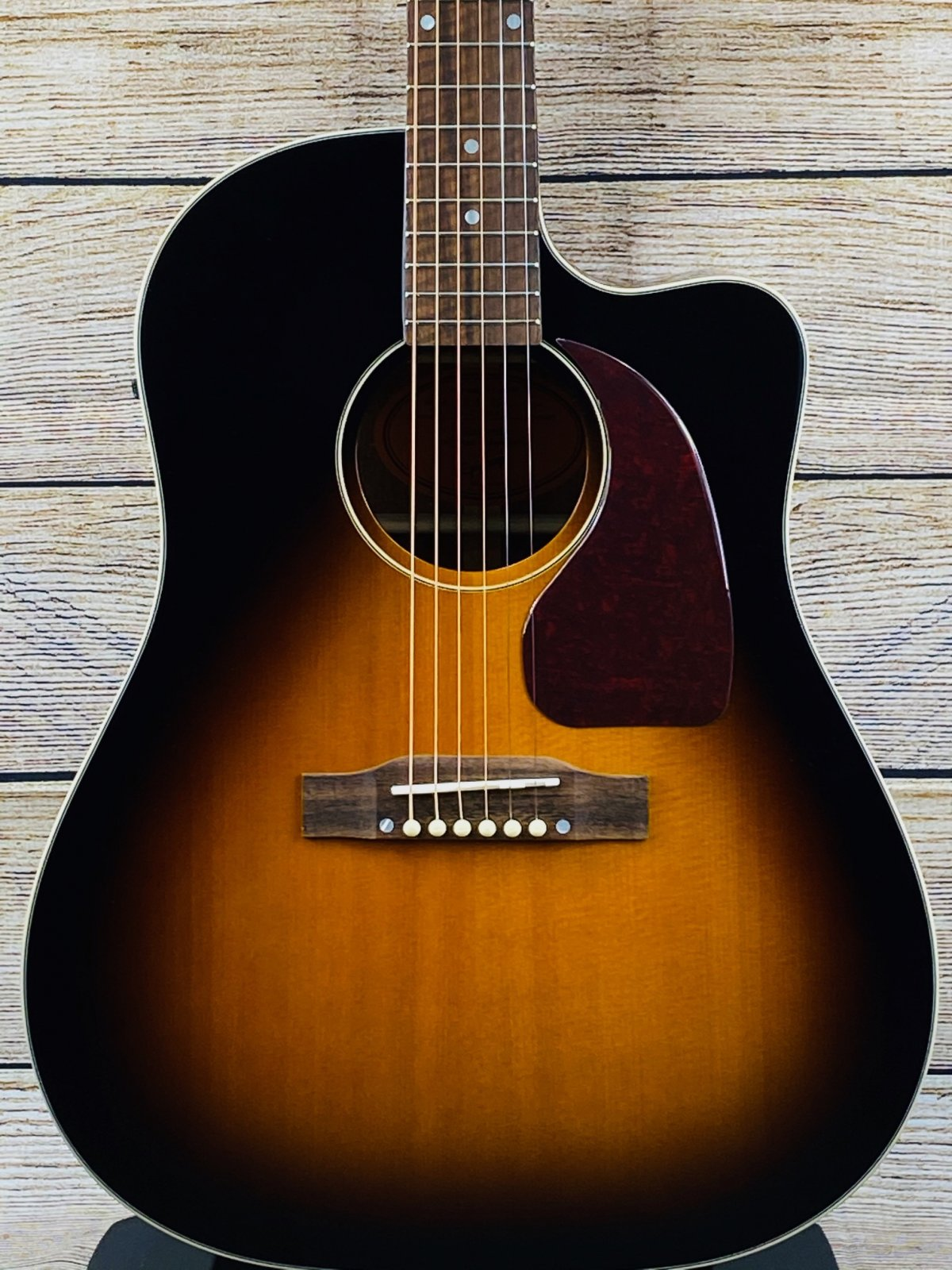 Epiphone Inspired by Gibson J-45 EC Acoustic-Electric Guitar - Aged Vintage Sunburst
