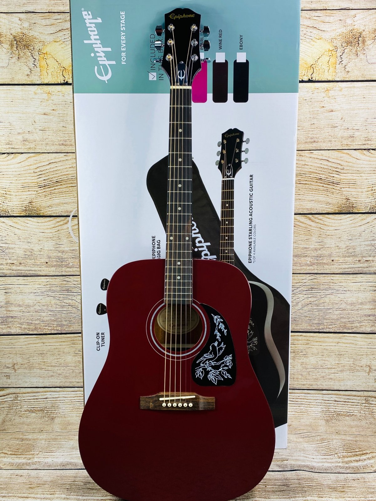 Epiphone Starling Acoustic Player Pack - Wine Red
