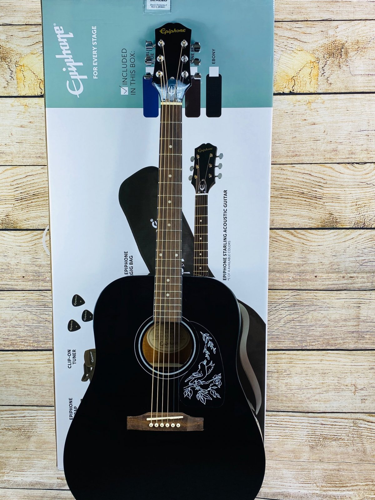 Epiphone Starling Acoustic Player Pack - Ebony