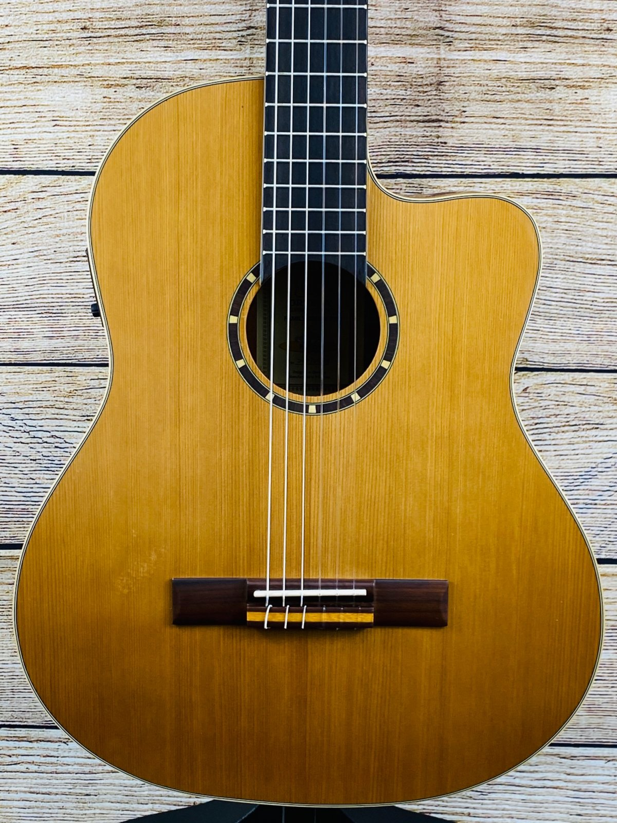 Ortega Family Series Pro RCE131 Acoustic-Electric Classical Guitar Satin Natural