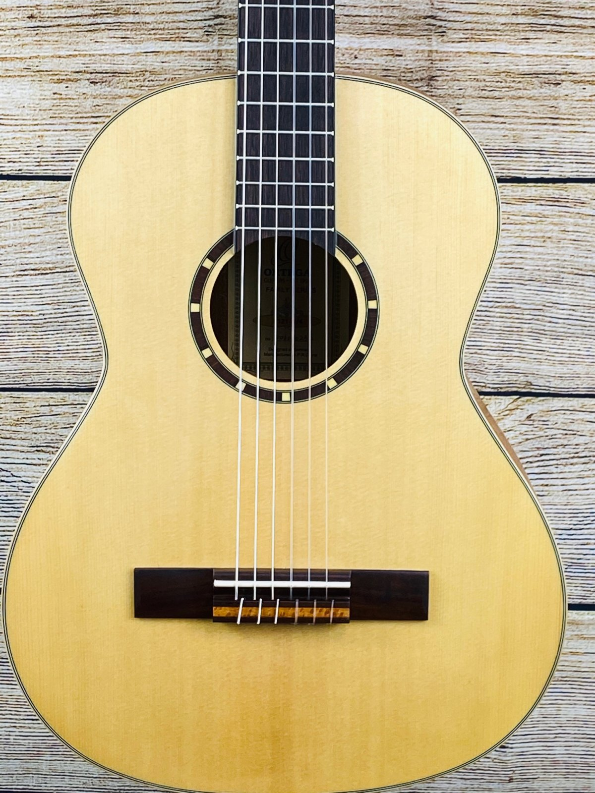 Ortega Guitars R122 Family Series Cedar Top Nylon String 3/4 Size Acoustic Guitar, Walnut Fretboard, Natural