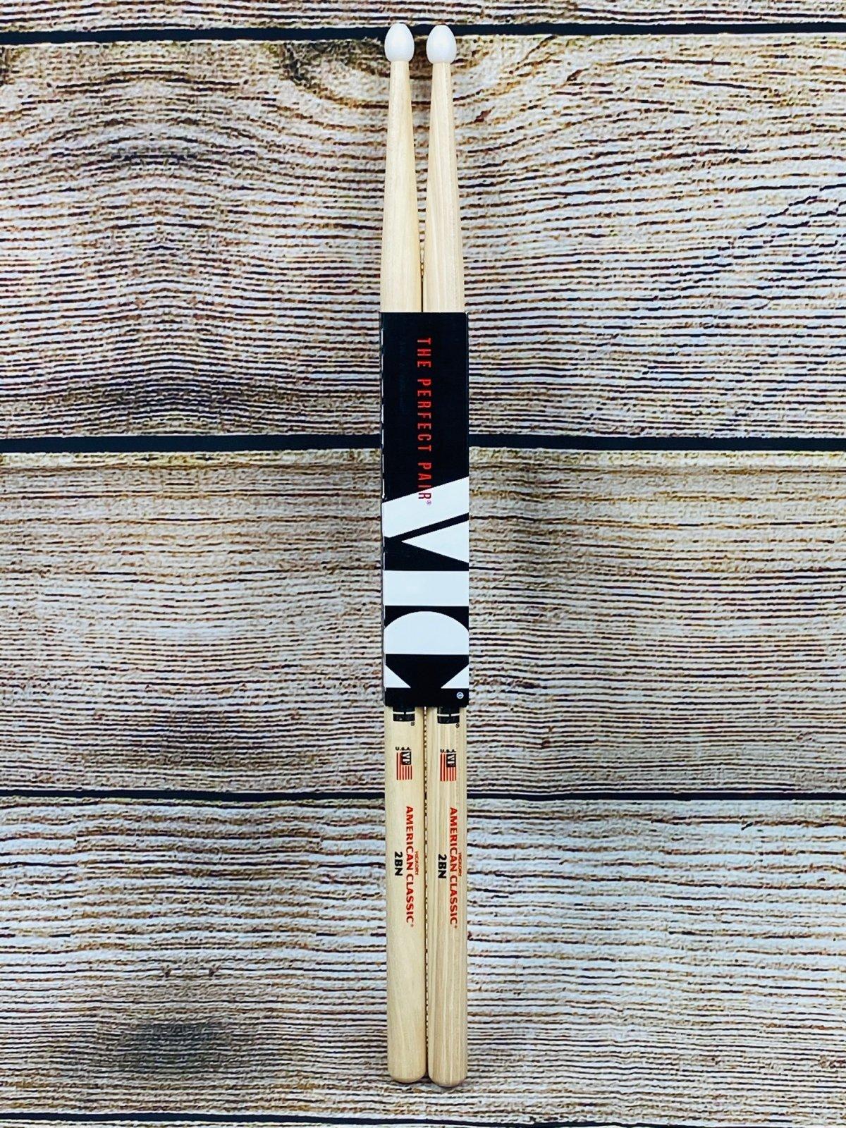 Vic Firth American Classic Drumsticks - 2B - Nylon Tip