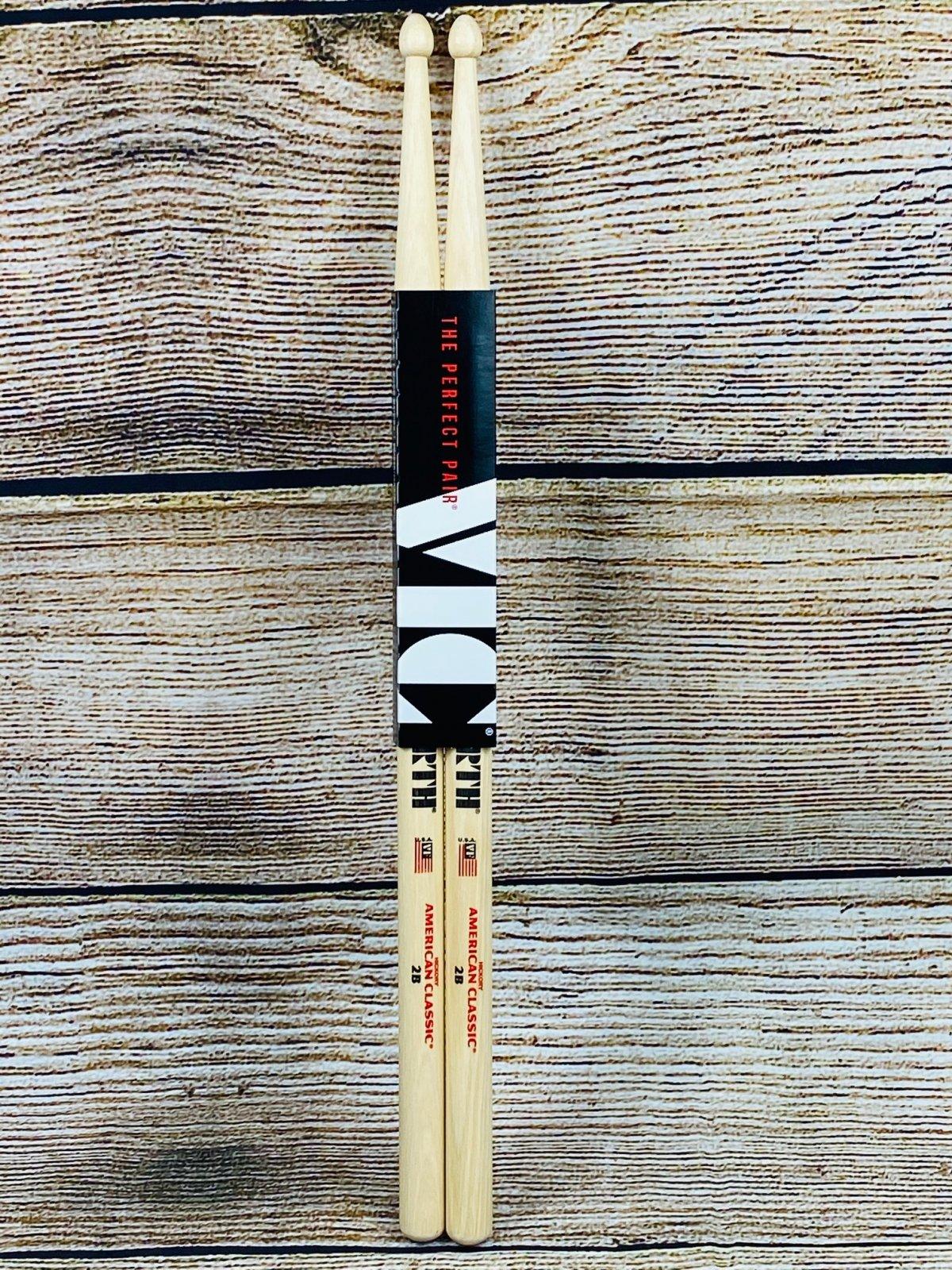 Vic Firth American Classic Drumsticks - 2B - Wood Tip