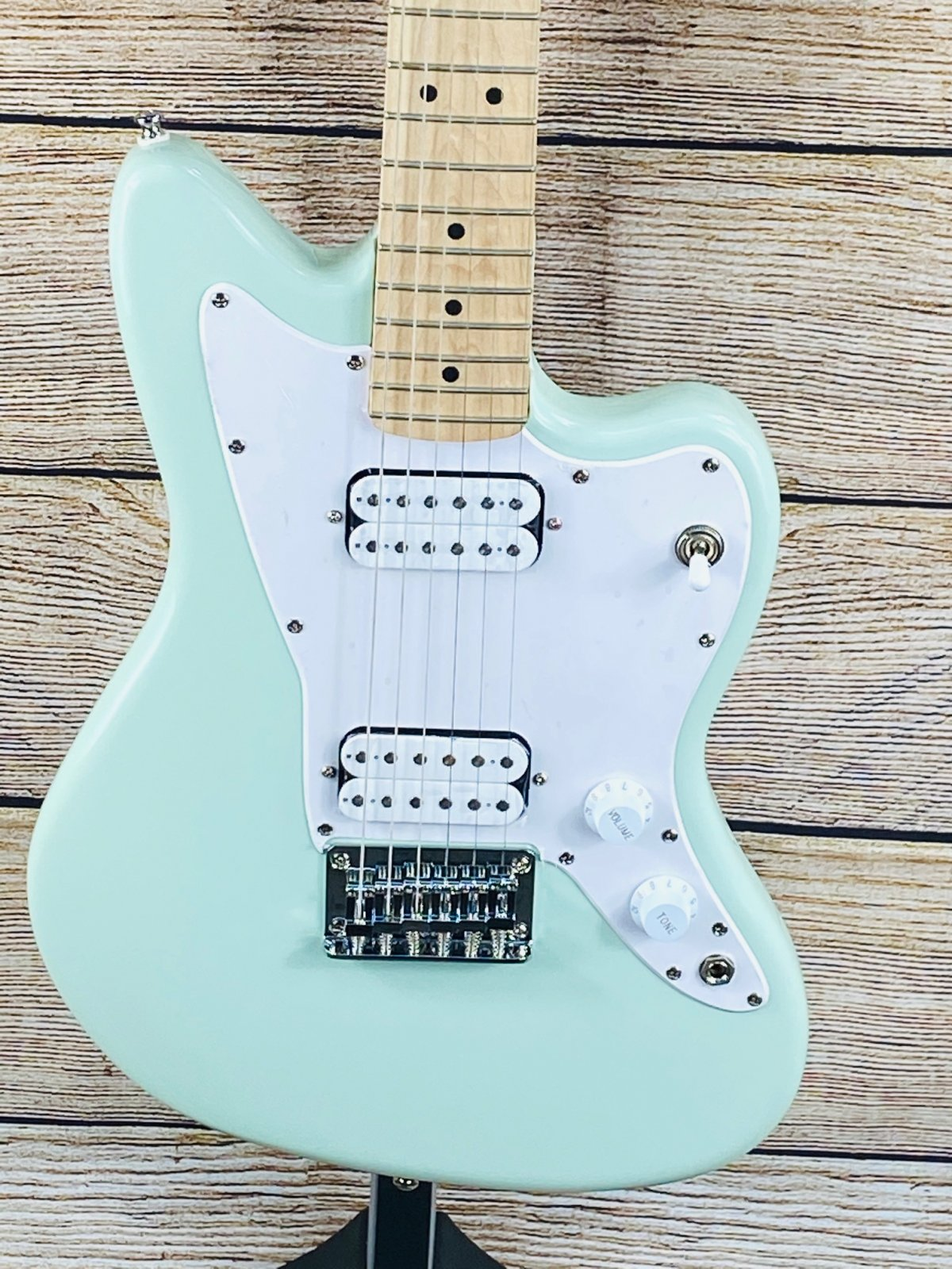 Squier Mini Jazzmaster HH Maple Fingerboard Electric Guitar Surf Green
