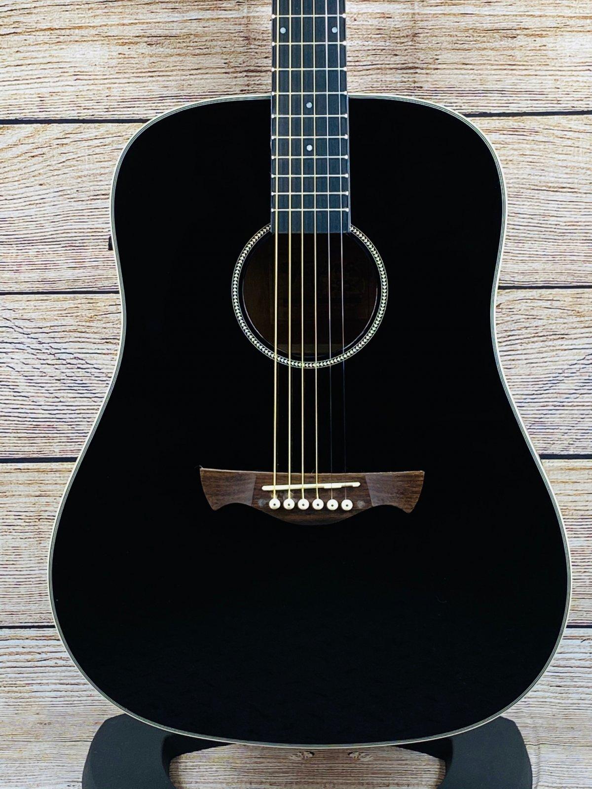 Tagima TW 25 EQ-BK Dreadnought  Acoustic electric Guitar - Black