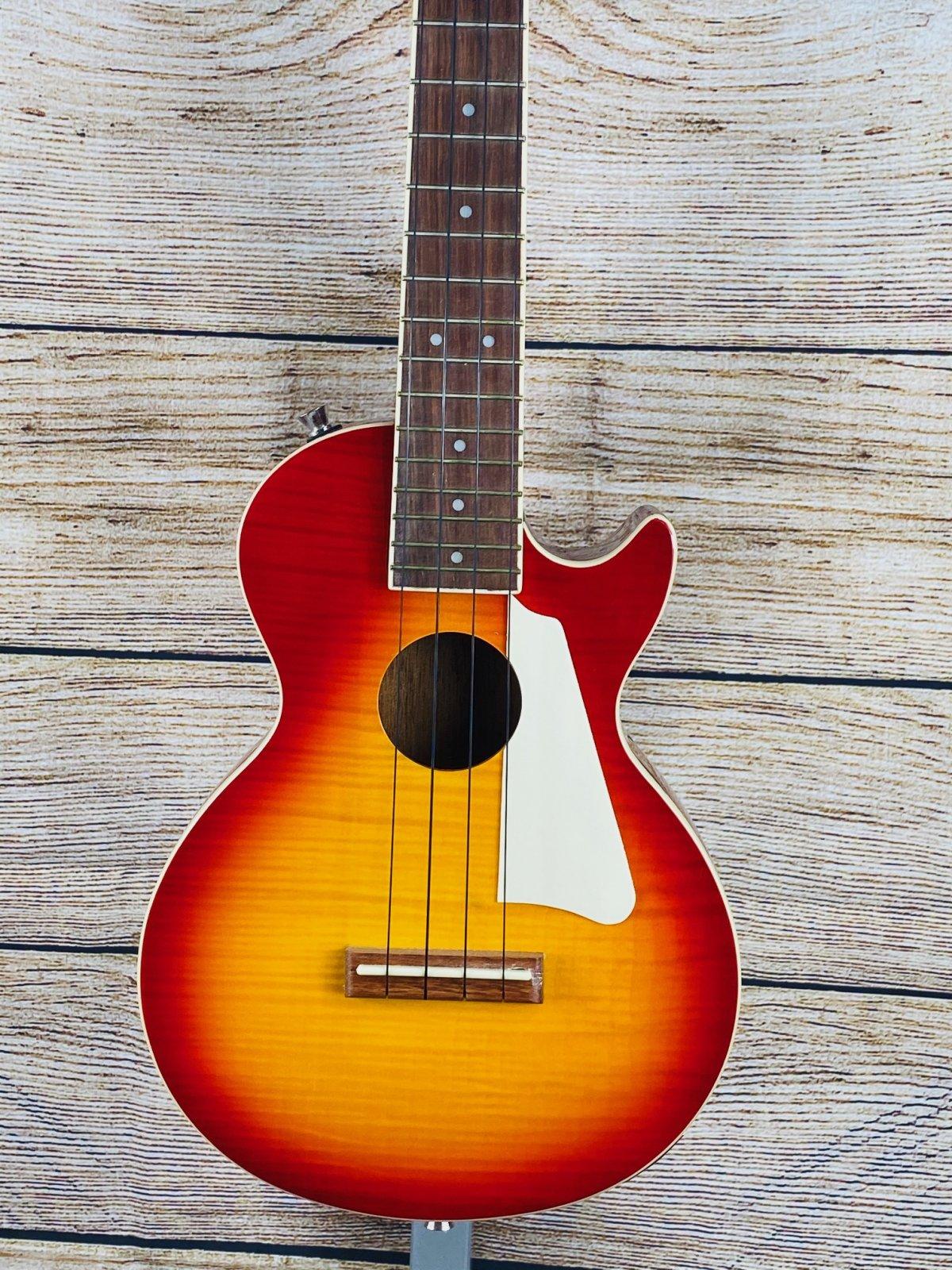 Epiphone Les Paul Acoustic Electric Uke Heritage Cherry Sunburst W/Bag