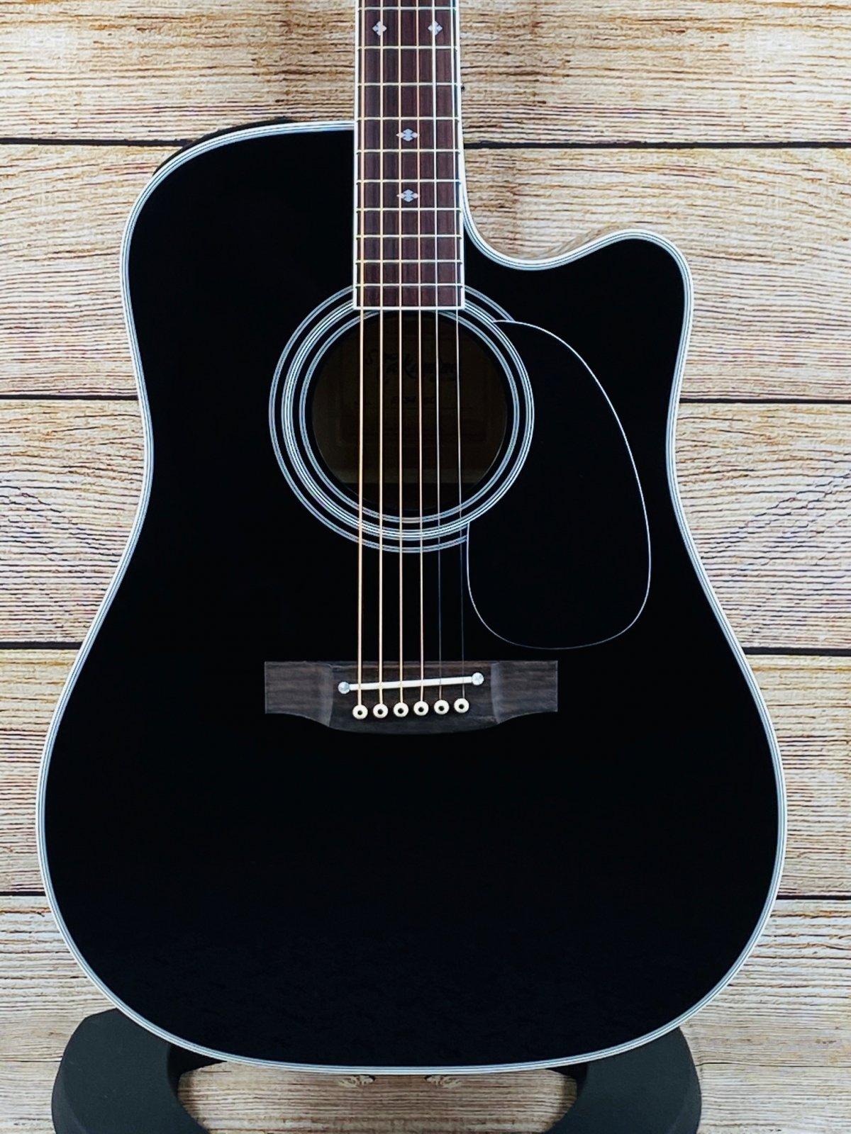Takamine EF341SC Legacy Series Acoustic-Electric Guitar Black