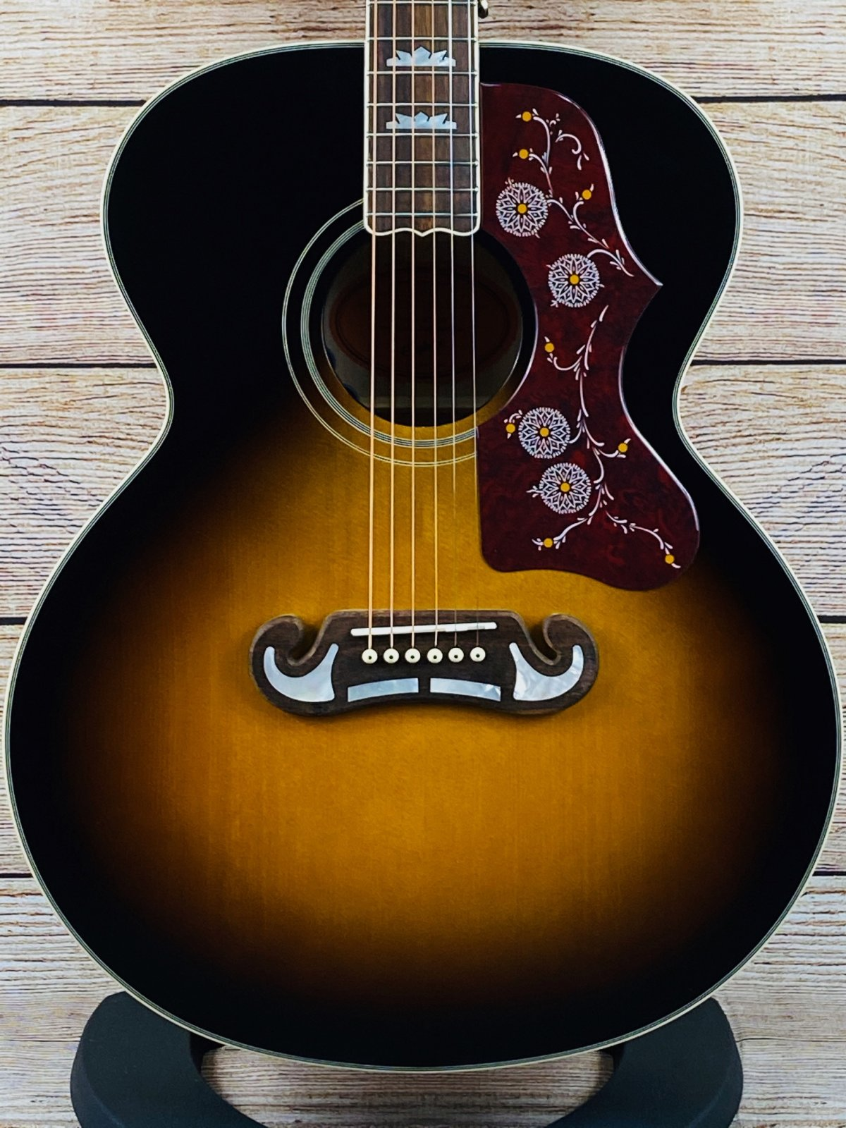 Epiphone J-200 Acoustic Guitar - Aged Vintage Sunburst Gloss