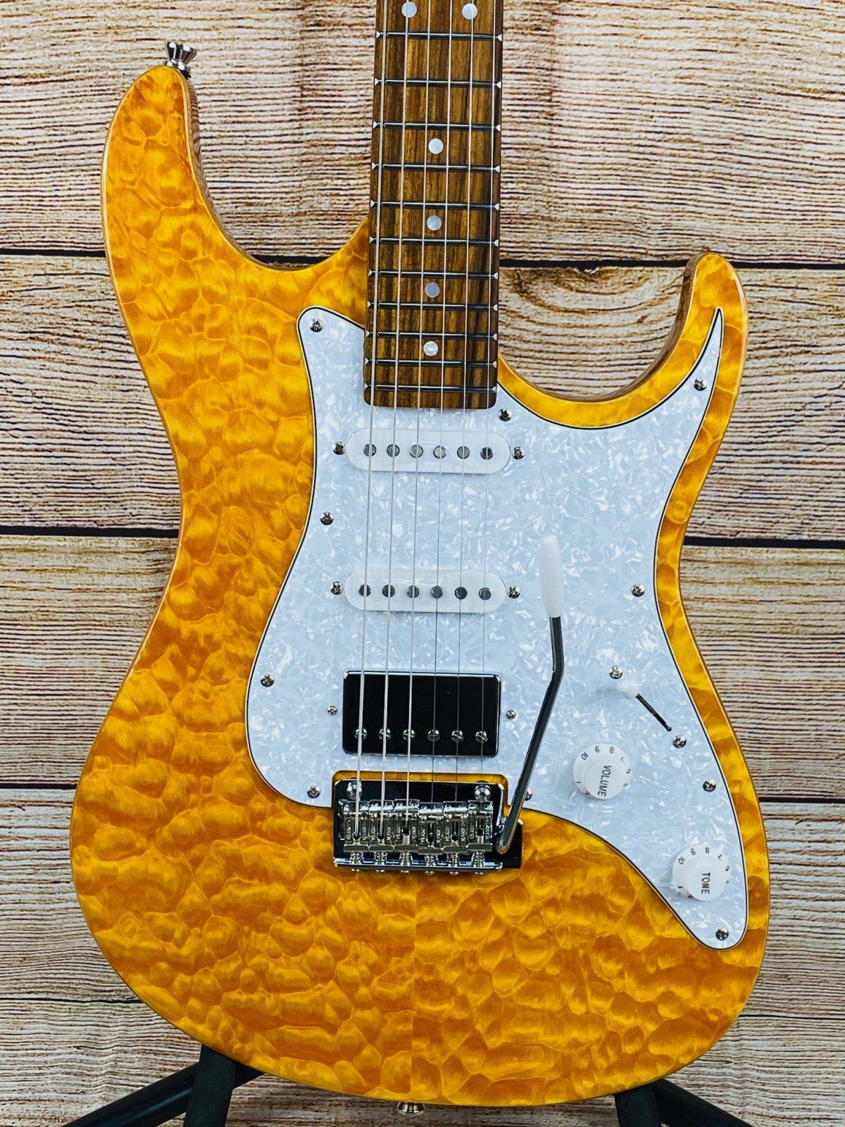 Tagima Stella DW Electric Guitar - Transparent Amber
