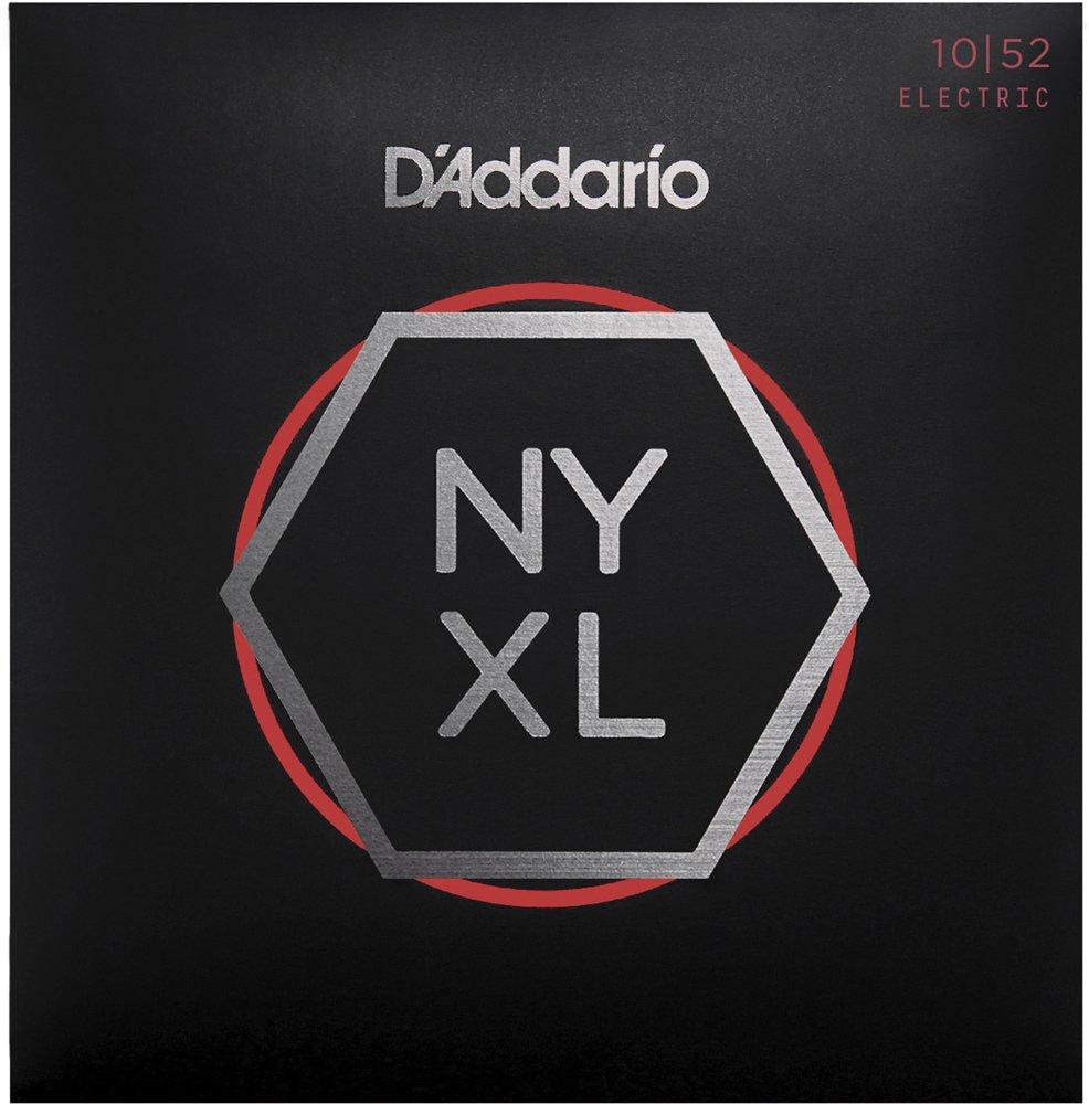 D'Addario NYXL1052 Nickel Wound Electric Strings - .010-.052 Light Top/Heavy Bottom