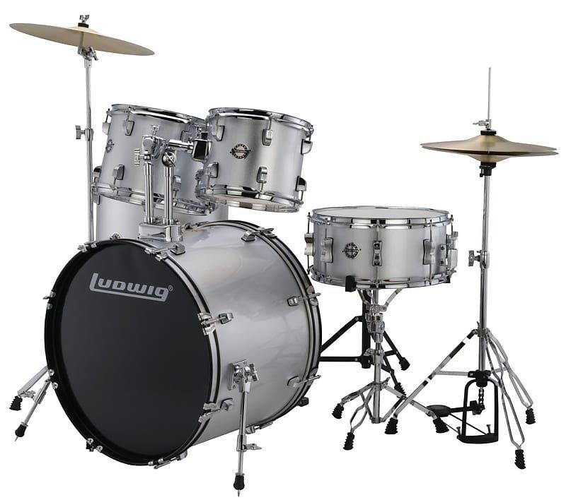 Ludwig Accent 5-Piece Drum Set Silver Foil