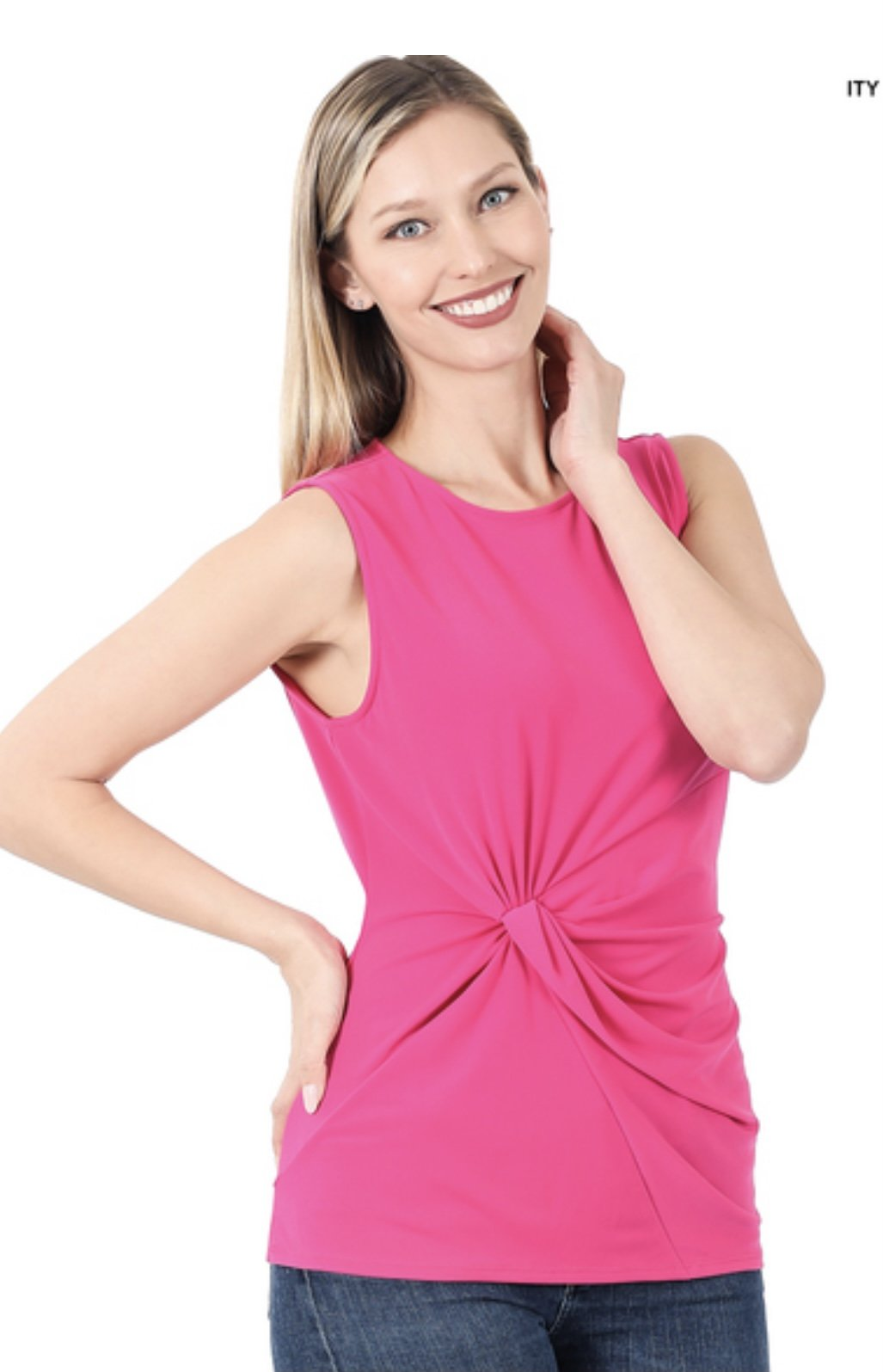Knot Front Sleeveless Top
