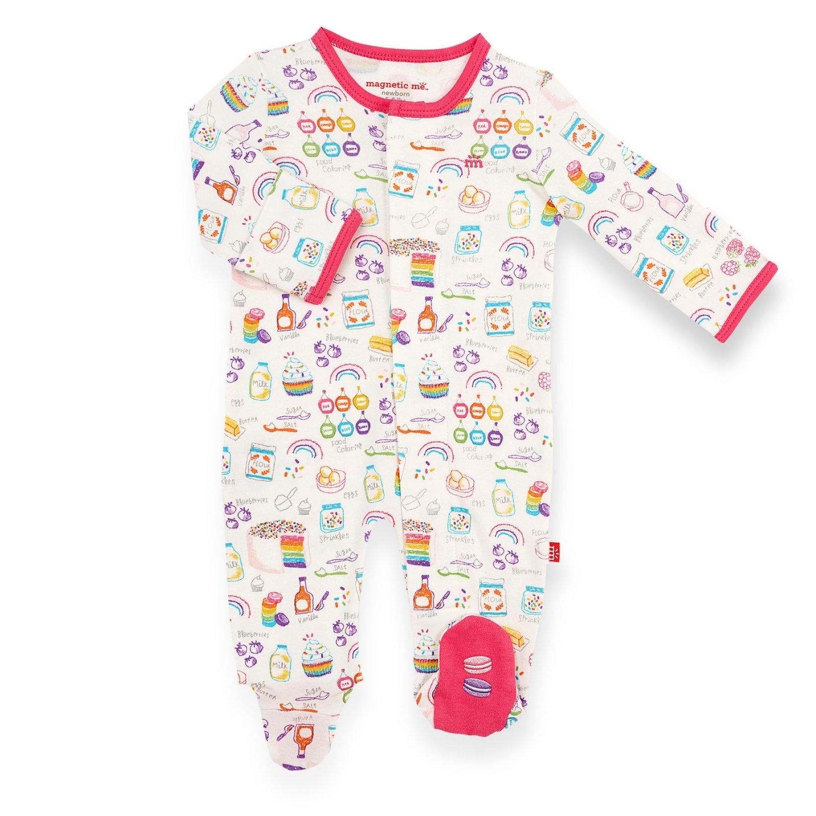 Rainbow Sprinkles Organic Cotton Footie