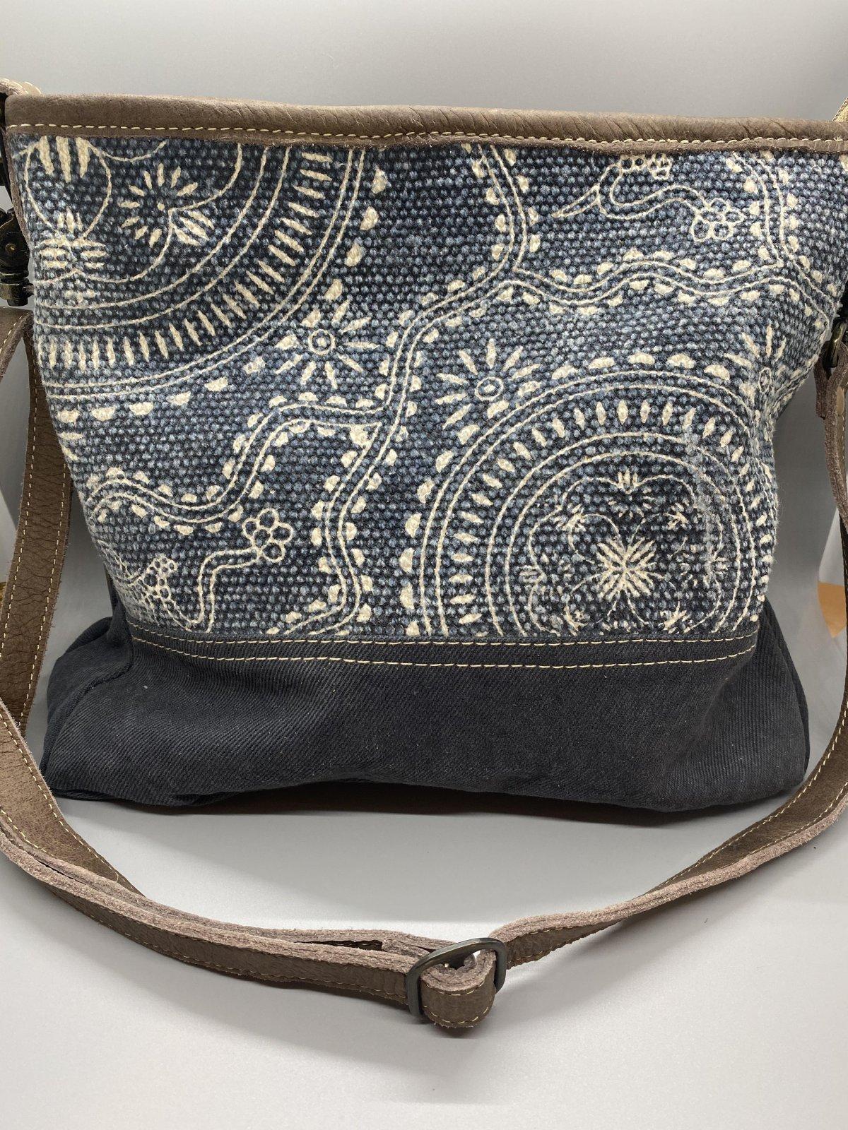 Navy Kilim Shoulder Bag