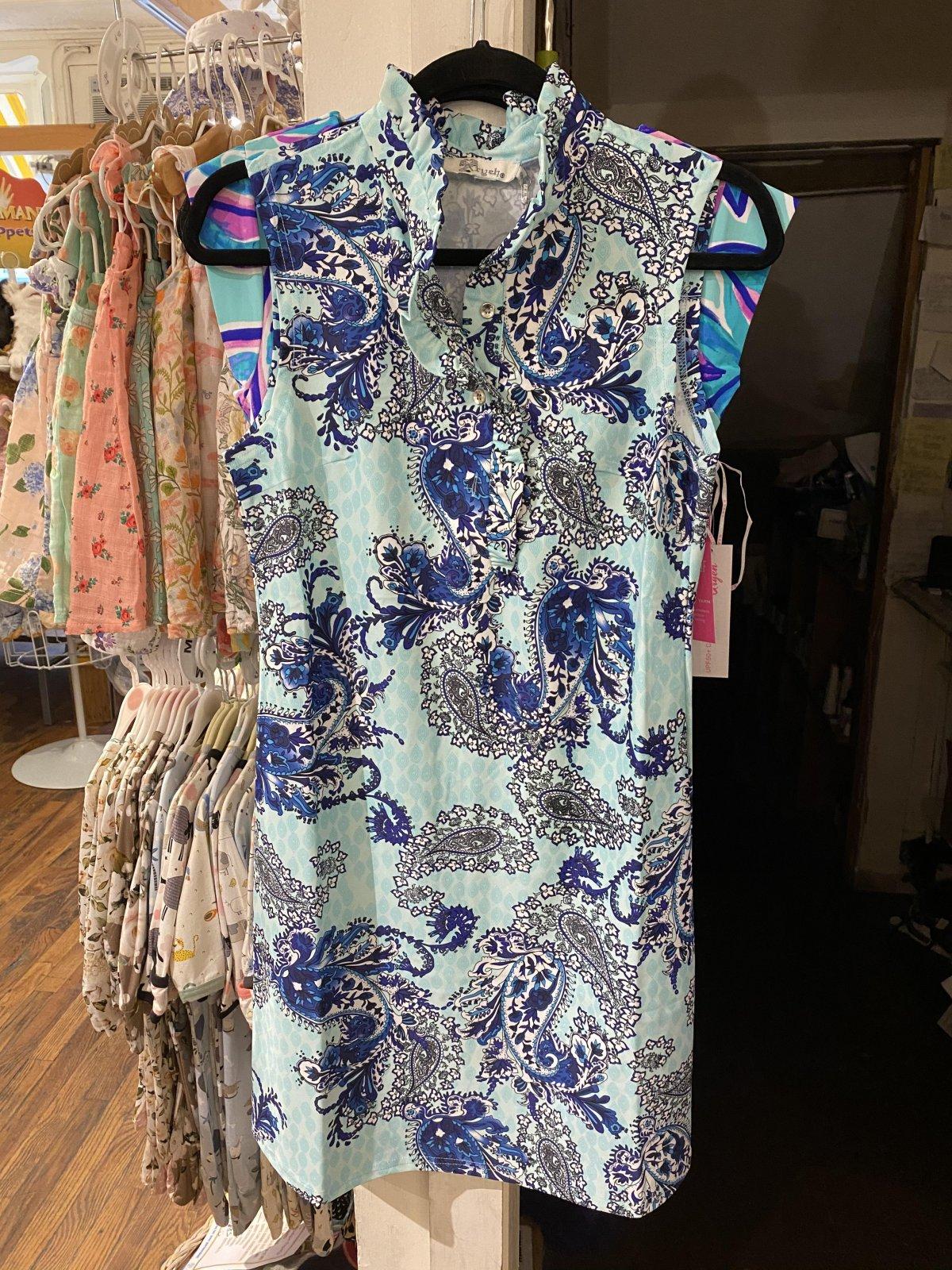 Stella Ruffle Neck Sleeveless Dress