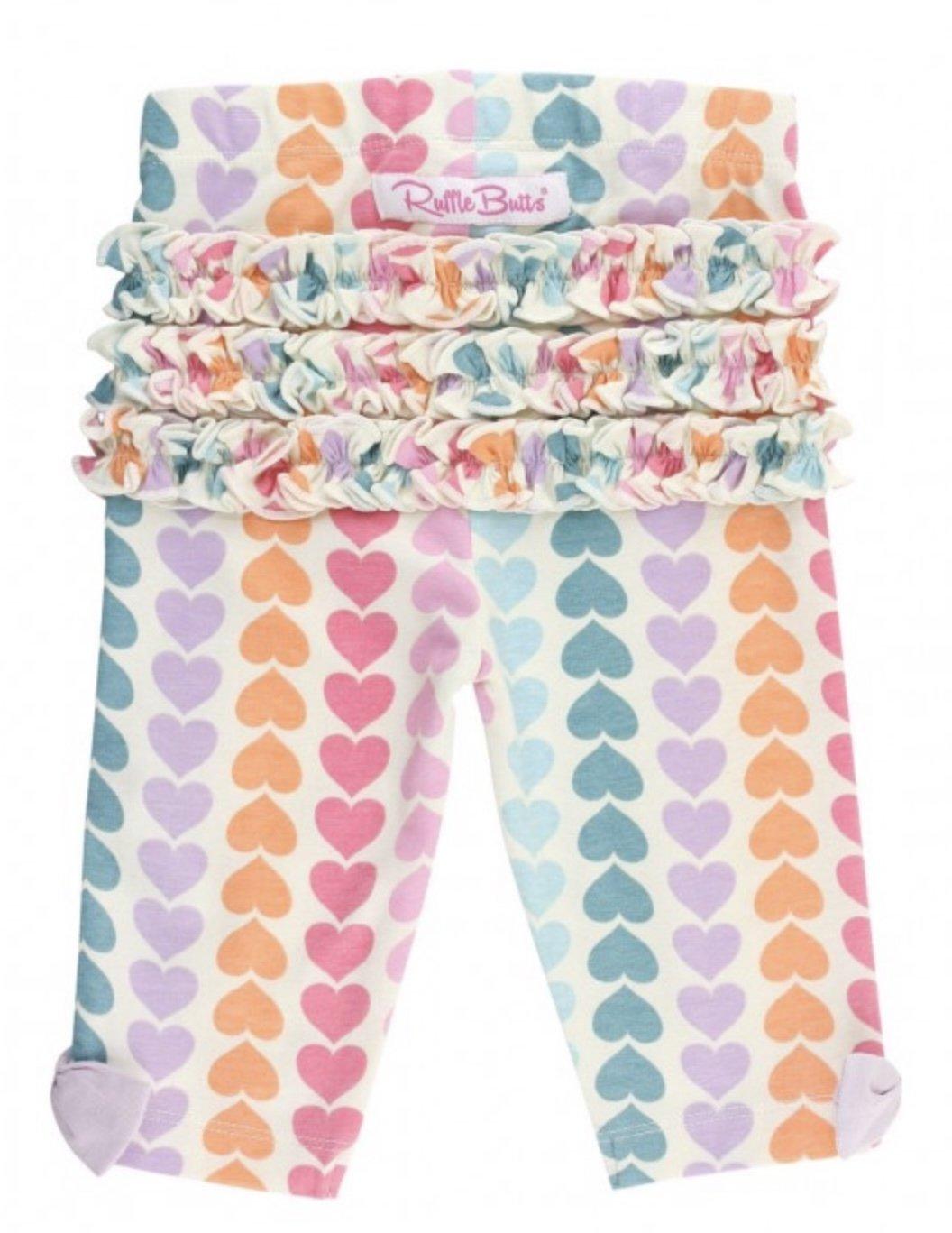 Rainbow Hearts Capri Legging