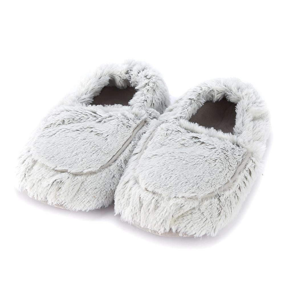 Warmies Slippers Marshmallow Gray