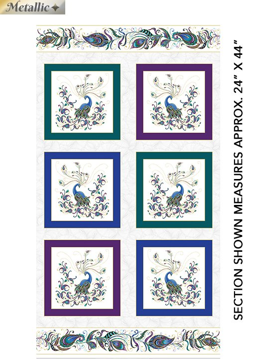 Peacock Flourish - Flourish Box Panel White/Multi