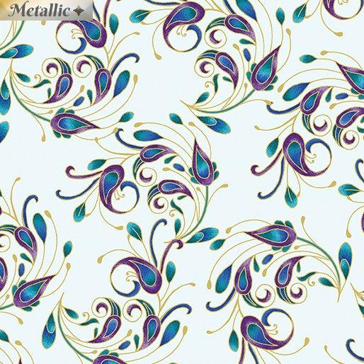 Peacock Flourish - Spin It Light Teal/Multi