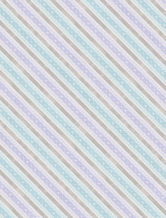 Butterfly Haven - Diagonal Stripe Purple/Blue