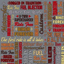 Biker For Life - LINGO ON GRAY