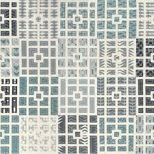 Modern Neutrals - Squares Blue
