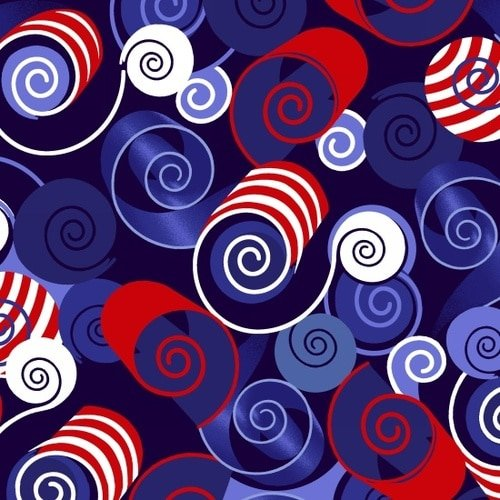 America Home Of The Brave - Patriotic Swirl
