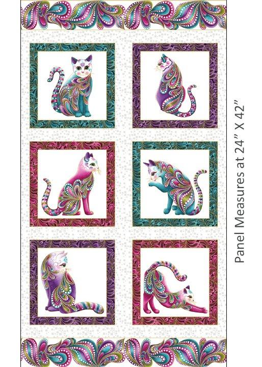 CAT-I-TUDE - PANEL WHITE/MULTI