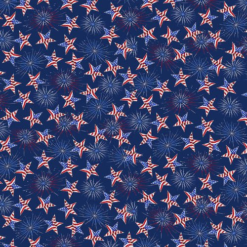 America Home Of The Brave - Tossed Stars