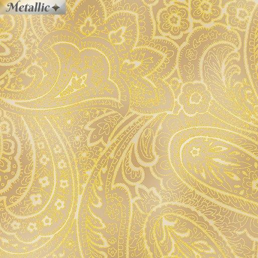 Radiant Paisley - Wheat/Gold